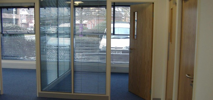 Full Height Double Glazed Partitioning