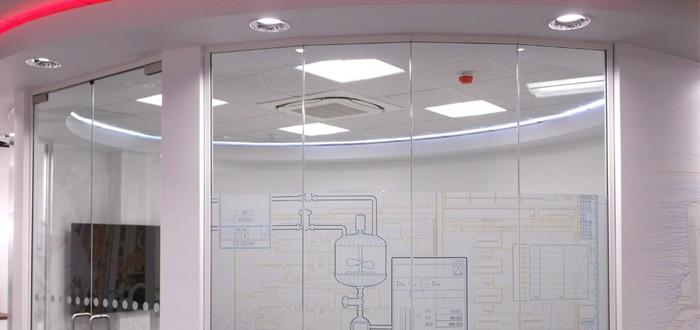 Futuristic Glass Partition